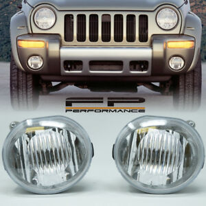 For 2002 2003 2004 Jeep Liberty Replacement Fog Light Housing Assembly Clear L