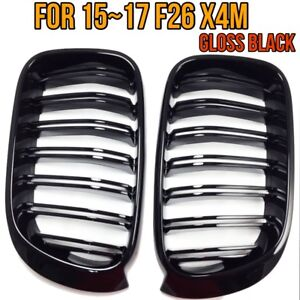 X4m Style Piano Gloss Black Front Hood Grilles Grille For 15 17 Bmw F26 X4 M40i