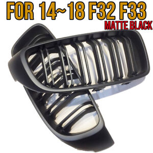 M4 Style Matte Frozen Black Front Grilles Grille For 14 18 Bmw F32 F33 F36 435i