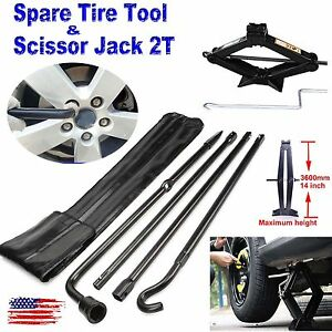 For 2004 14 Ford F 150 Spare Tire Tool Exension Iron Kit 2t Tonne Scissor Jack