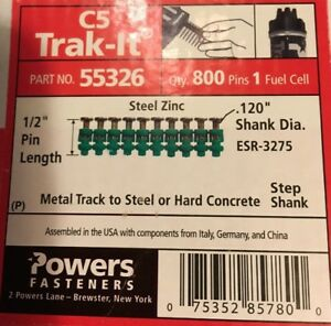 Powers Trak it C5 55326 1 2 Metal Track To Steel Pins With Extra Fuel Cell