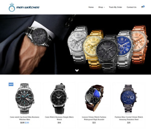 Men s Watches Turnkey Website Business For Sale Profitable Dropshipping
