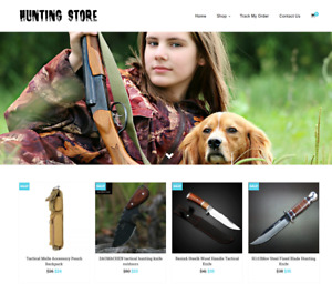 Hunting Store Turnkey Website Business For Sale Profitable Dropshipping