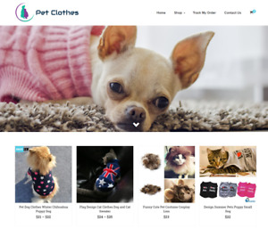 Pet Clothes Turnkey Website Business For Sale Profitable Dropshipping