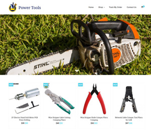 Power Tools Turnkey Website Business For Sale Profitable Dropshipping
