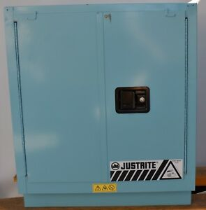 Nice Justrite Chemcor 19 Gallon Steel Corrosive Safety Cabinet 8831222 Two Door