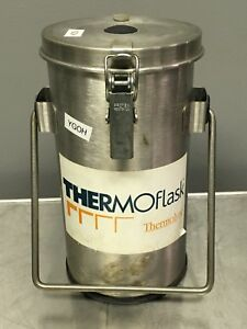 Thermolyne Thermoflask Dewar Flask Model 2122 With Handle And Lid Used