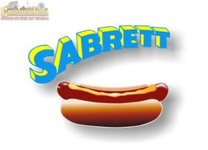 Sabrett Hot Dog Decals Sign Hot Dog Cart Concession Stand Menu Board Stickers