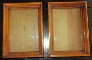 Vintage American Folk Art Miniature Maple Picture Frames 4 3 4 X 6 1 4 In Fit