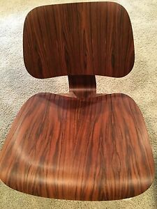 Rare Rosewood Eames Molded Plywood Lounge Chair