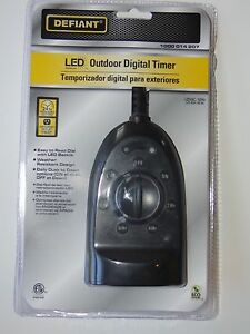 Defiant Outdoor Digital Led Timers Lot Of 10 All New