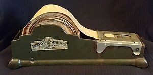 Vintage express Moistener Packaging Tool Tape Dispenser Shelton Connecticut