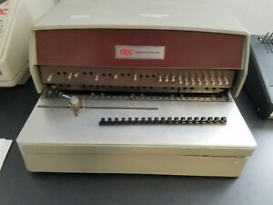 General Binding Corporation gbc Comb Punch And Binding Machine