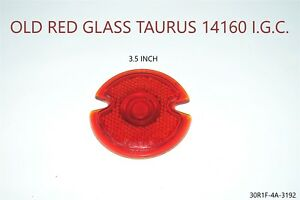 Red Glass Lens Tail Stop Light Cover Vintage Old Antique 1930 s 1920 s 1940 s
