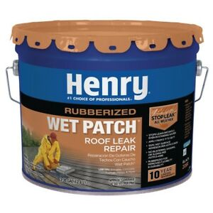 Roof Cement Rubber Wet Patch Sealant Black Cold Applied Leak Repair 3 30 Gal