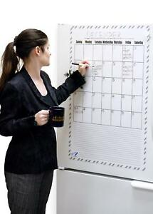 Giant White Board Dry Erase Calendar Magnet 36 X 24 Big Magnetic Dry Erase