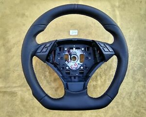 Bmw E60 E61 07 10 New Leather Ergonomic Inlays Steering Wheel Flat Thick Carbon