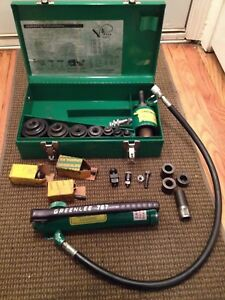 Greenlee 7306 Knockout 767 Hydraulic Driver Punch Set Dies 1 2 2 Tool
