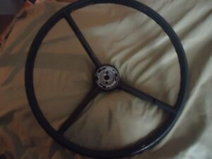 Vintage 1963 Ford Truck Steering Wheel Black 17 Or Rat Rod