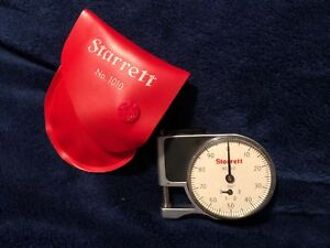 Starrett No 1010 Dial Indicator Pocket Gauge