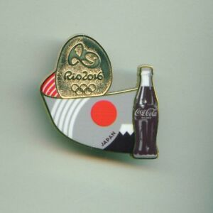 Coca Cola Rio 2016 Olympic Games Sponsor Pin Japan Stylized Flag