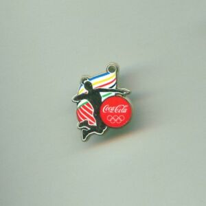 Coca Cola Rio 2016 Olympic Games Sponsor Pin Volleyball