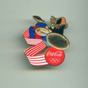 Coca Cola Rio 2016 Olympic Games Sponsor Pin Rock Musician Playing Drums