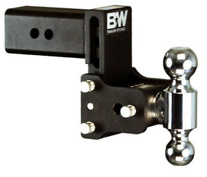B W Black Tow Stow Dual Ball Hitch Receiver 2 5 16 2 Ts30037b Adjustable 3