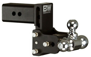 Bw Black Tow Stow Tri Ball Hitch Receiver 1 7 8 2 2 5 16 Ts30048b Adjustable 3