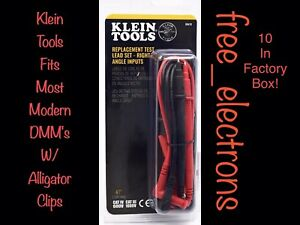 10 X Klein Tools Multimeter Test Lead Alligator Clip Set Fit Fluke Tl71 Ideal