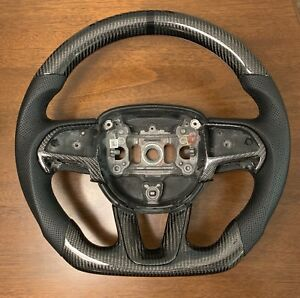 2015 2018 Dodge Charger Challenger Srt Steering Wheel Carbon Fiber