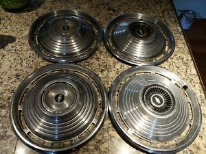 Vintage Chevy Chevrolet 14 Wheel Covers Hubcaps Hub Caps Set Of 4