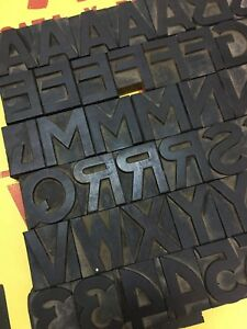 94 Pcs 70 Mm Rare Wood Letterpress Type Print Block 24