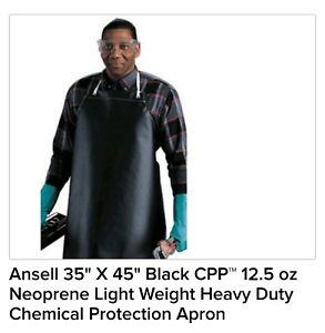 Ansell Neoprene Chemical Protection Apron Qty 10