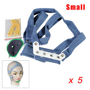 5 Dental High Pull Strap Headgear Facemask Combination Head Caps Small Size