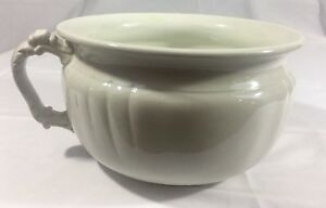 Porcelain Chamber Pot Antique White Aj Wilkinson England Royal Semi Rare