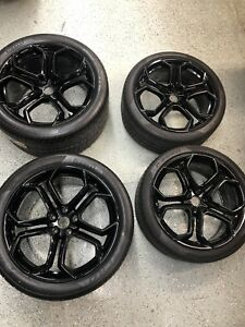 Lamborghini Aventador 4 Oem Rims Fresh Powder Coat Mounted And Balanced