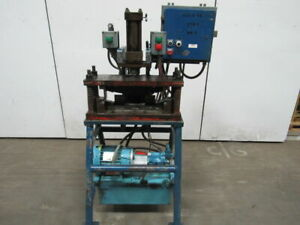 5hp Hydraulic C Frame Press 6 Stroke 5 1 2 Throat 28 X 10 Table 460v 3 Ph
