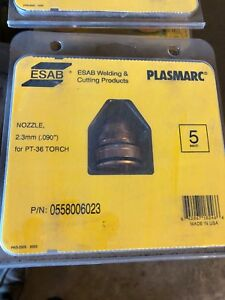 Esab 0558006023 Nozzle 2 3mm 090 Plasma Pt 36 Torch New Package Of 5 Pcs