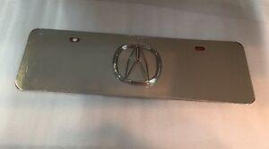 Acura Logo Chrome Mini Front License Plate Stainless Steel