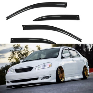 Fit Toyota Corolla 2003 2004 2005 2006 2007 2008 Window Visor Guard Weather Part