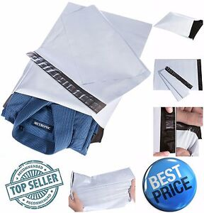 100 X White Poly Mailers Envelopes Bags 10 X13 Self Sealing Mailing Shipping