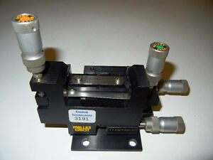 Melles Griot Microblock 4 Axis Device Manipulators W Differential Micrometers
