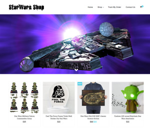 Established Star Wars Turnkey Website Business For Sale profitable Dropshipping