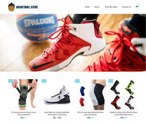 Basketball Store Turnkey Website Business For Sale Profitable Dropshipping