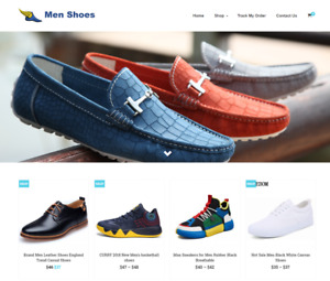 Men Shoes Turnkey Website Business For Sale Profitable Dropshipping