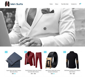 Men Suits Turnkey Website Business For Sale Profitable Dropshipping