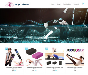 Established Yoga Turnkey Website Business For Sale Profitable Dropshipping
