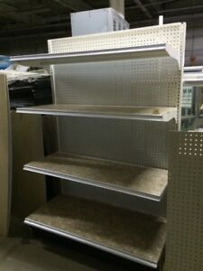Gondola Shelving Wall Units Metal Shelves Used Store Fixtures Grocery Shelving