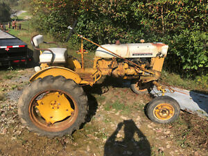 International Cub Tractor W Weights Snow Plow Mower Farmall Ihc